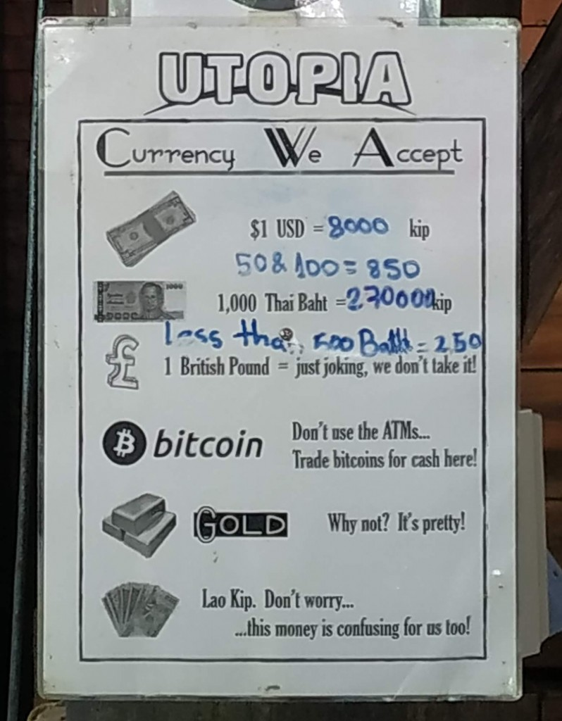 Accept Bitcoin in Utopia restauratn - Laos